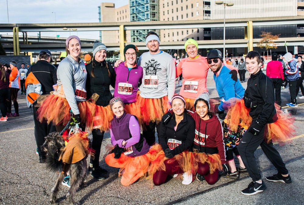 A photo of participants from this year's Turkey Trot.
