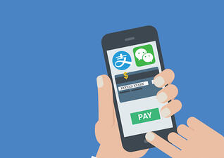 Chinese tourists pay with their mobiles