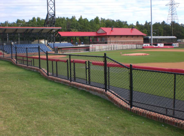 Custom chain link fencing surrounds a Community Track and Field Facility in Glen Allen, VA.