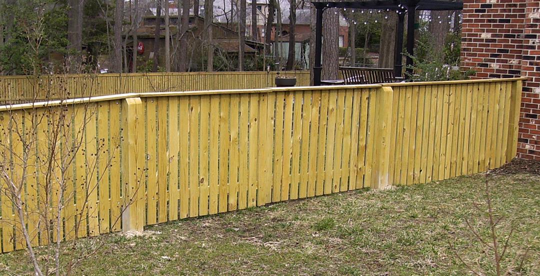 Wood Fence New Wood Fence