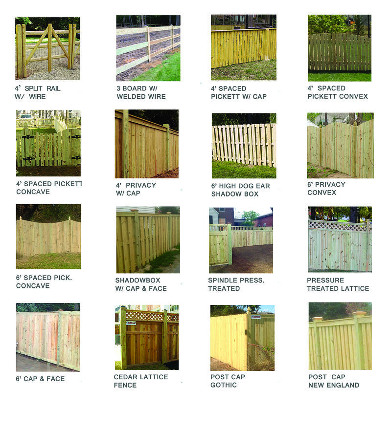 Should my new fence be made of cedar wood or pressure for Types of fences