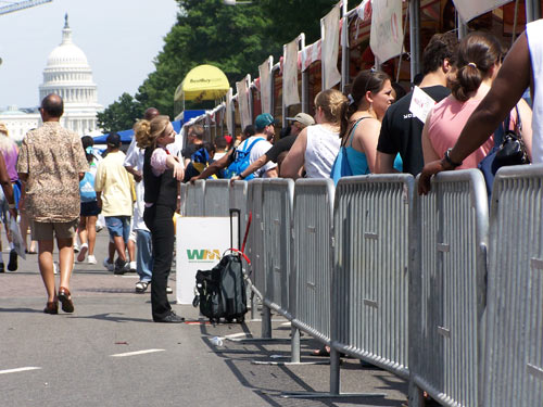 Commercial Barricade for previous bike race in washington dc
