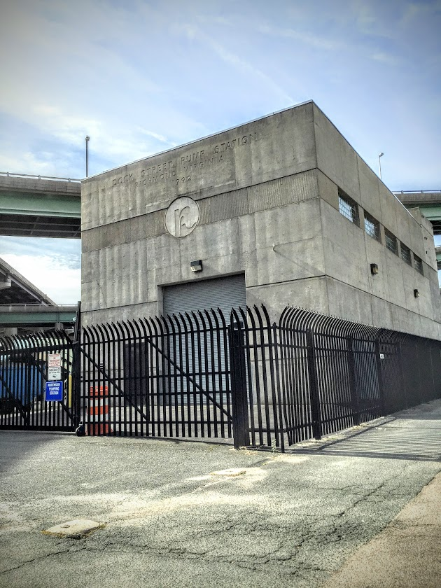 Dock Street Pump Station in RVA Shockoe Bottom is protected by Hurricane Fence K-Rated High-Security Ornmantal Steel