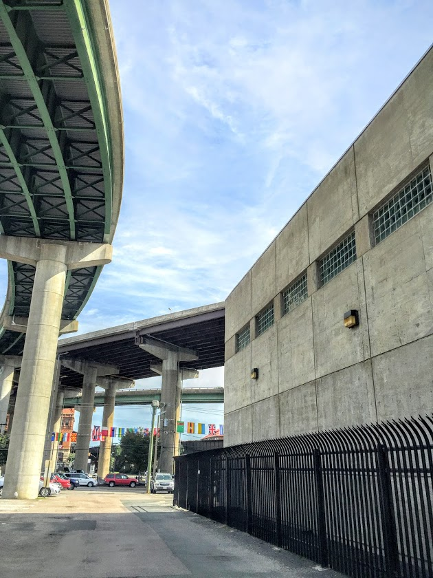 Dock Street Pump Station in Richmond, VA  sits under the -195 underpass  protected by Hurricane Fence K-Rated High-Security  Steel
