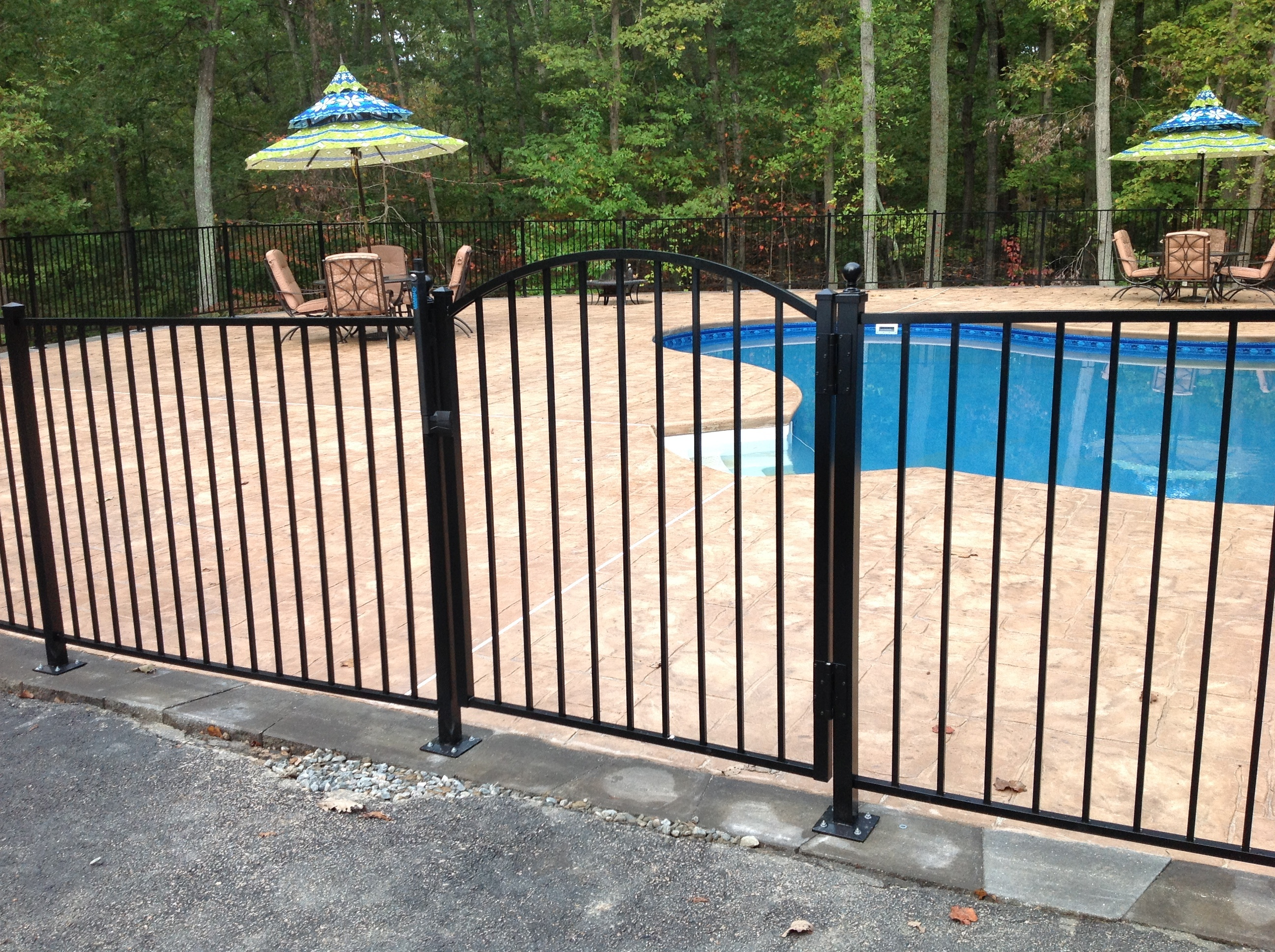 Swimming Pool in RIchmond Virginia enclosed by an Ornamental Aluminum Fence