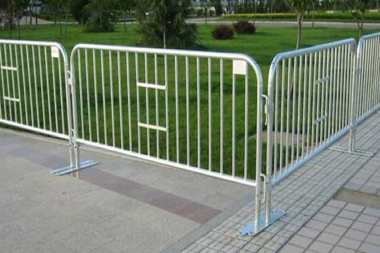 steel barricade can be positioned to provide security and crowd control during events