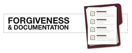 Forgiveness & Documentation