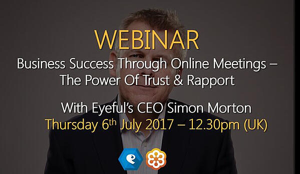 Today's webinar : Business success through online meetings