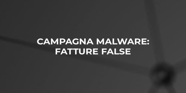Attenzione alla falsa fattura: campagna malware