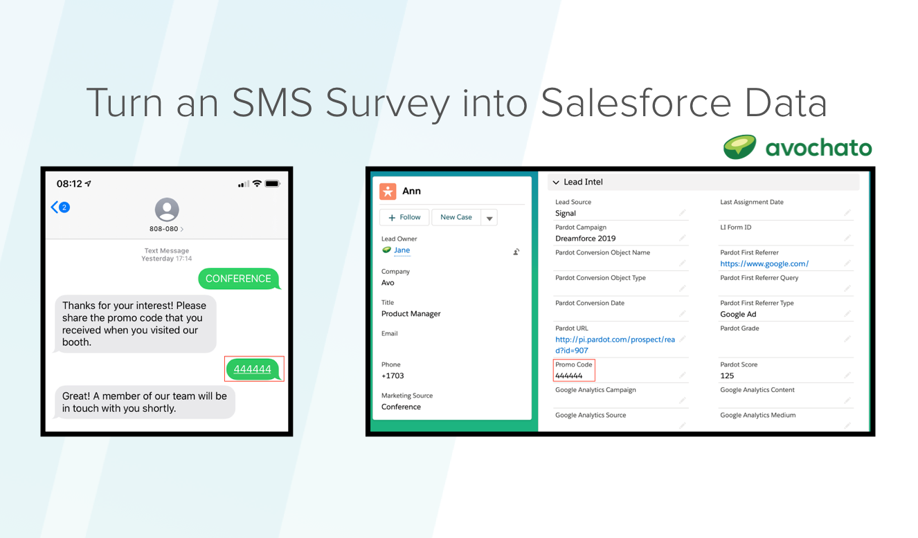 How To: Collect Information via SMS Survey and Sync it to Salesforce