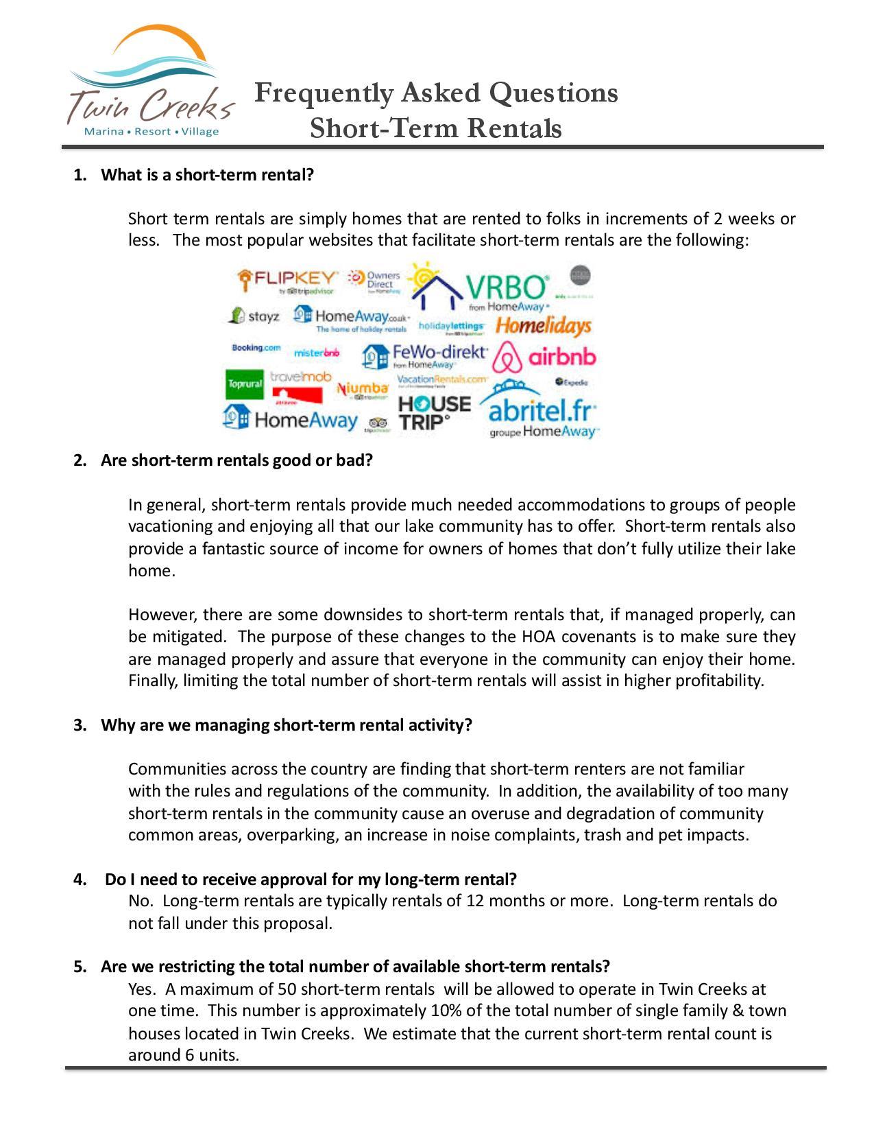 FAQ s Short-Term Rentals -page-001