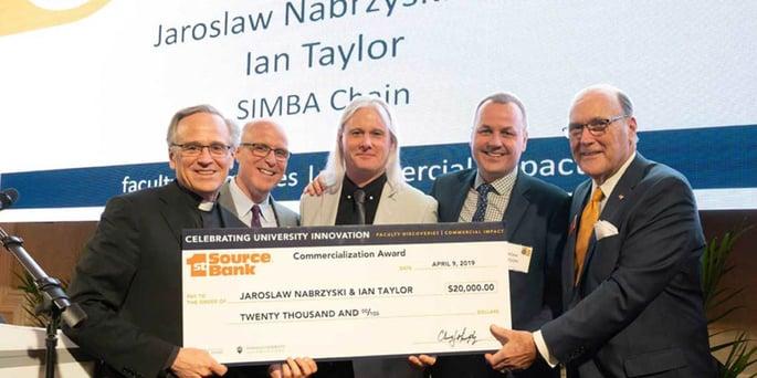 Jarek Nabrzyski and Ian Taylor Win the 1st Source Bank Commercialization Award