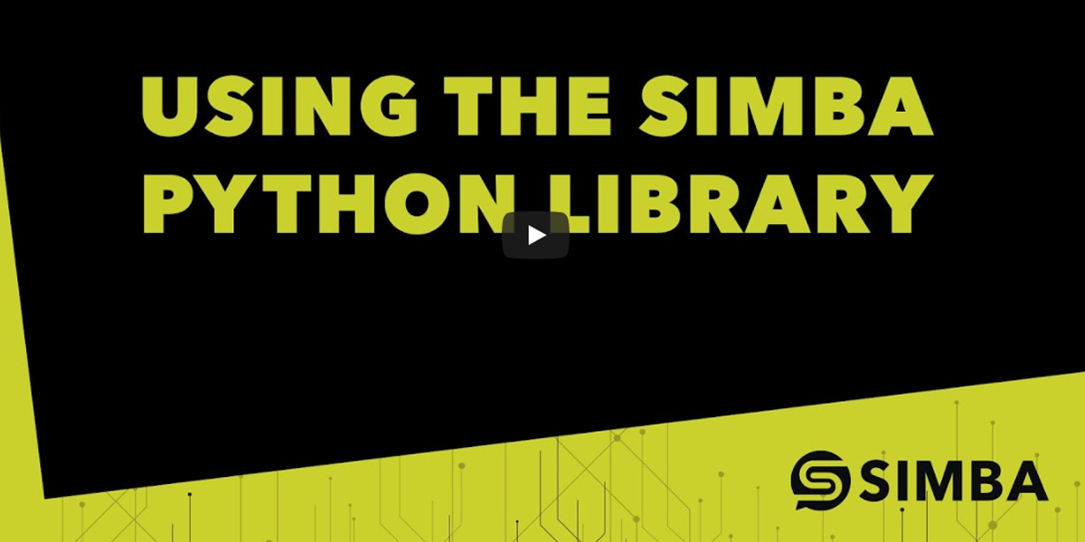 Using the SIMBA Python Library