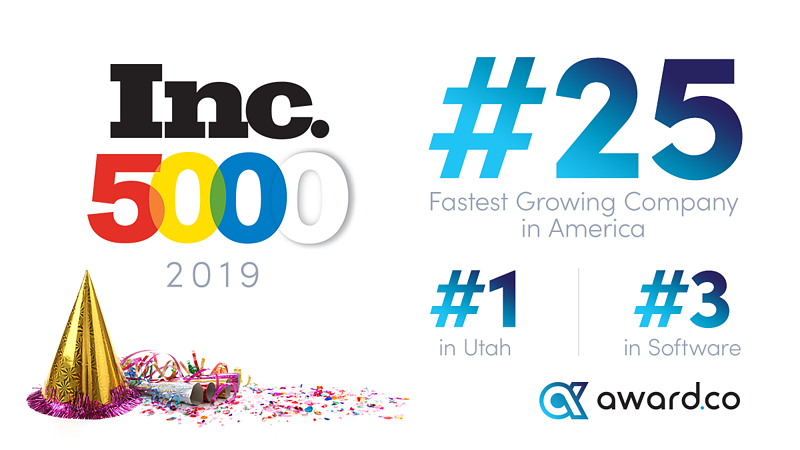 Awardco Ranked #25 on Inc. 5000 Fastest Growing Companies in America