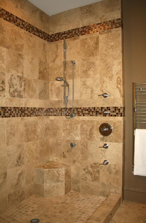 Tile designs for bathrooms. Shower wall tile design