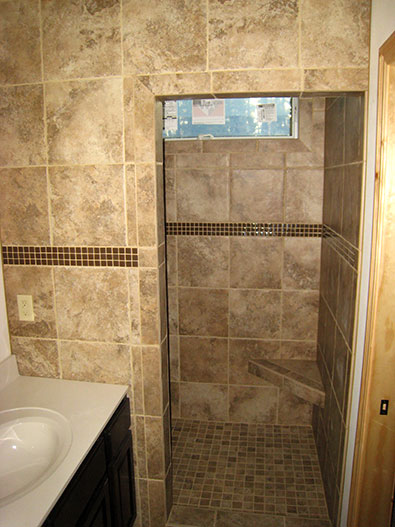 pictures of tiled walk in showers.  Shower Gallery