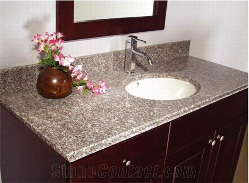 Bainbrook brown granite countertops charlotte nc - Discount granite bathroom vanity tops ...