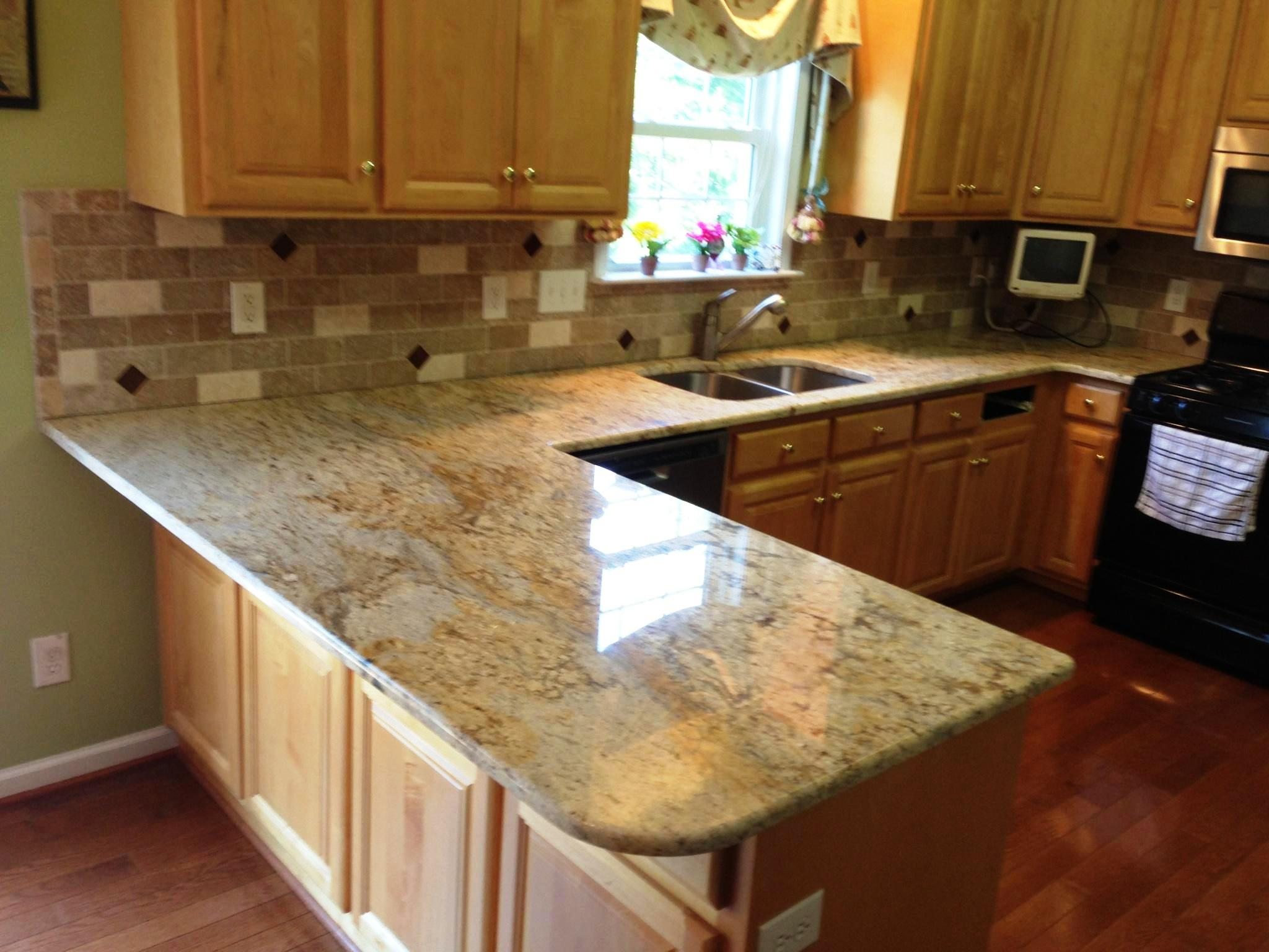 Kashmir Gold Granite Kitchen Colonial Gold Granite Countertops Charlotte Nc