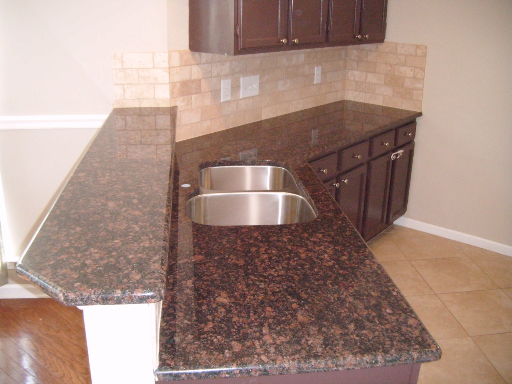 Tan Brown Granite Countertops Kitchen