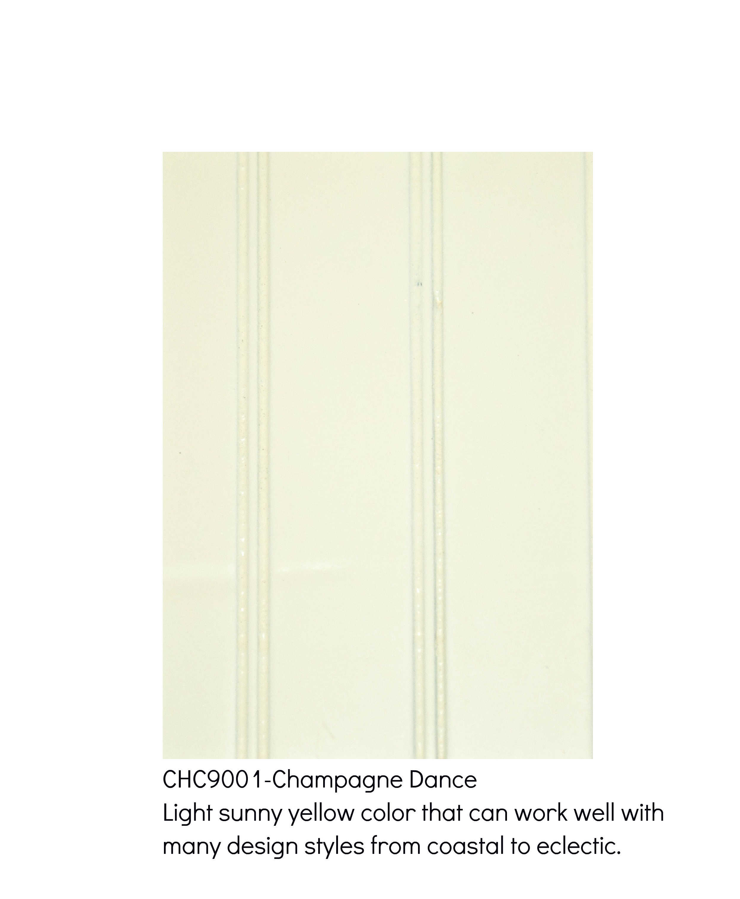 Champagne Dance 9001-Light sunny yellow color that works well with many design styles from coastal to eclectic