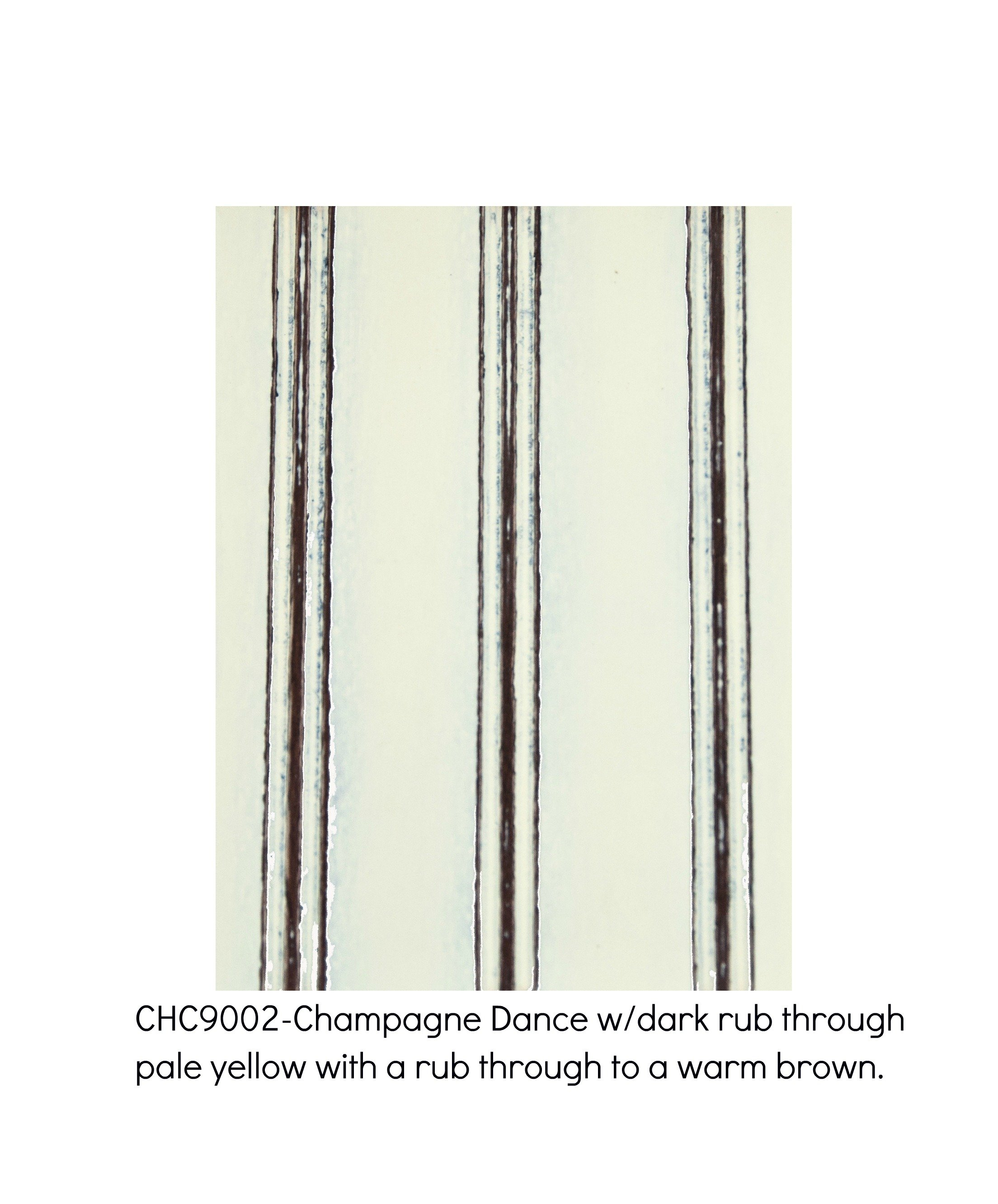 Champagne Dance 9002-Champagne Dance with a rub through to a warm brown