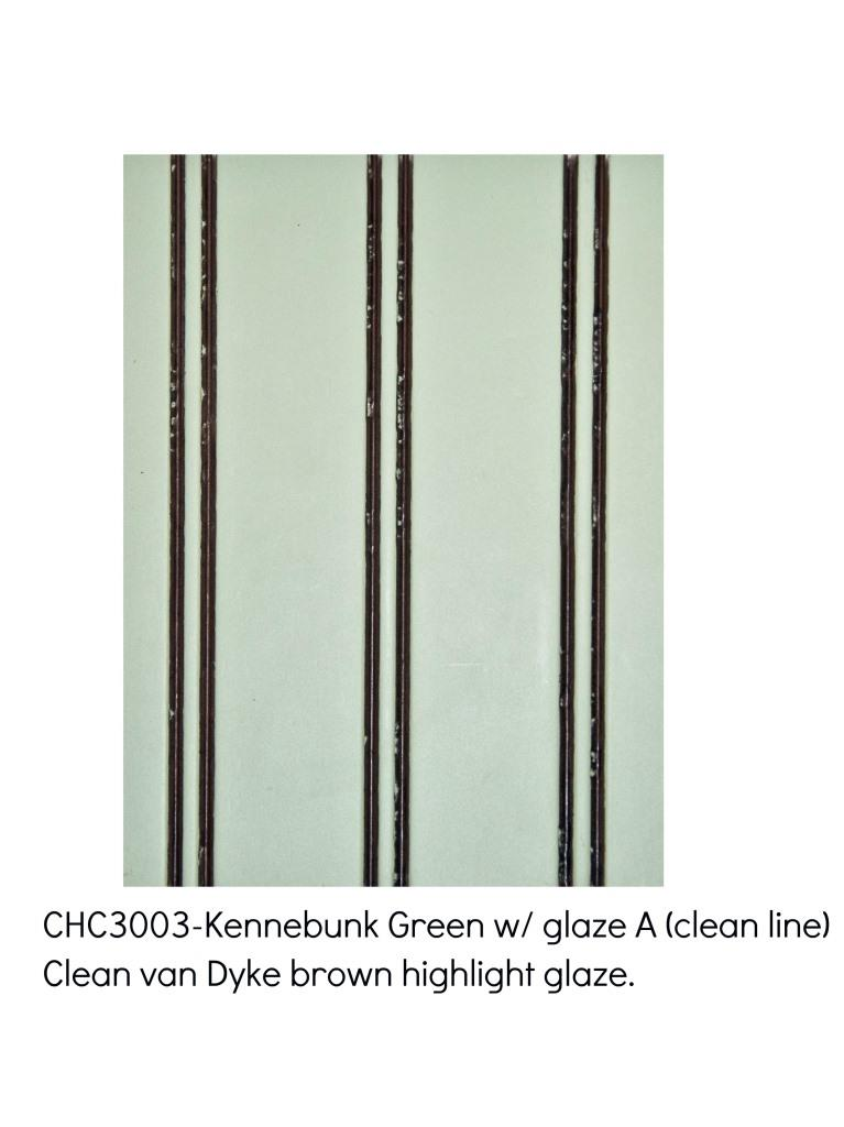 Kennebunk green3003-Clean Van Dyke Brown highlight glaze