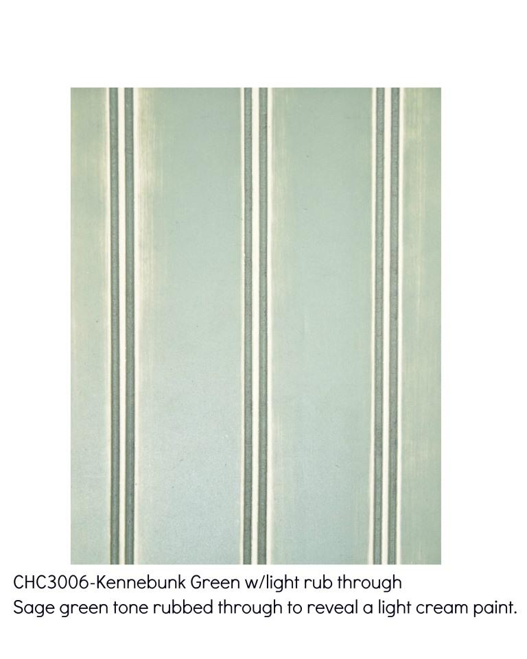 Kennebunk green3006-Sage green tone rubbed through to reveal a light cream paint