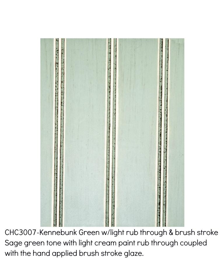 Kennebunk green3007-Sage green tone with light cream paint rub through coupled with the hand applied brush stroke glaze