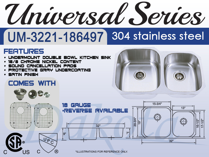 60/40 stainless steel sink spec