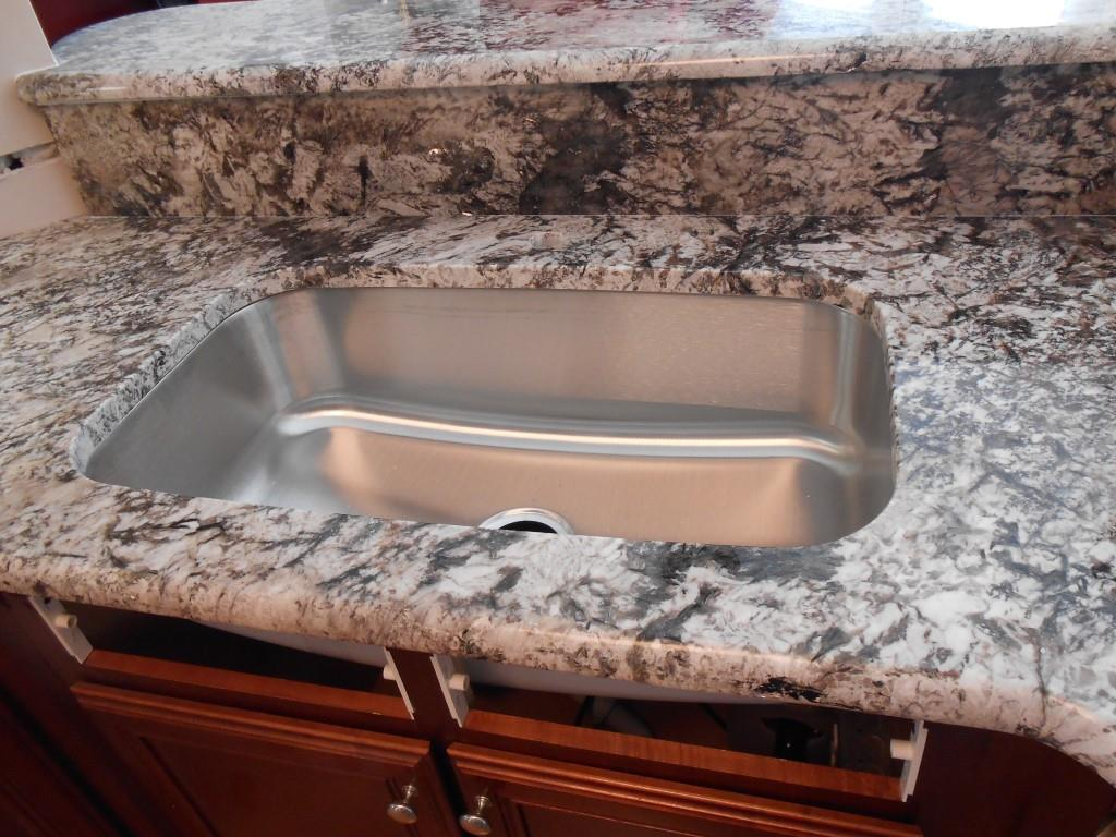Granite Or Stainless Steel Sink : 100 Stainless Steel Sink-Bianco Antico Granite