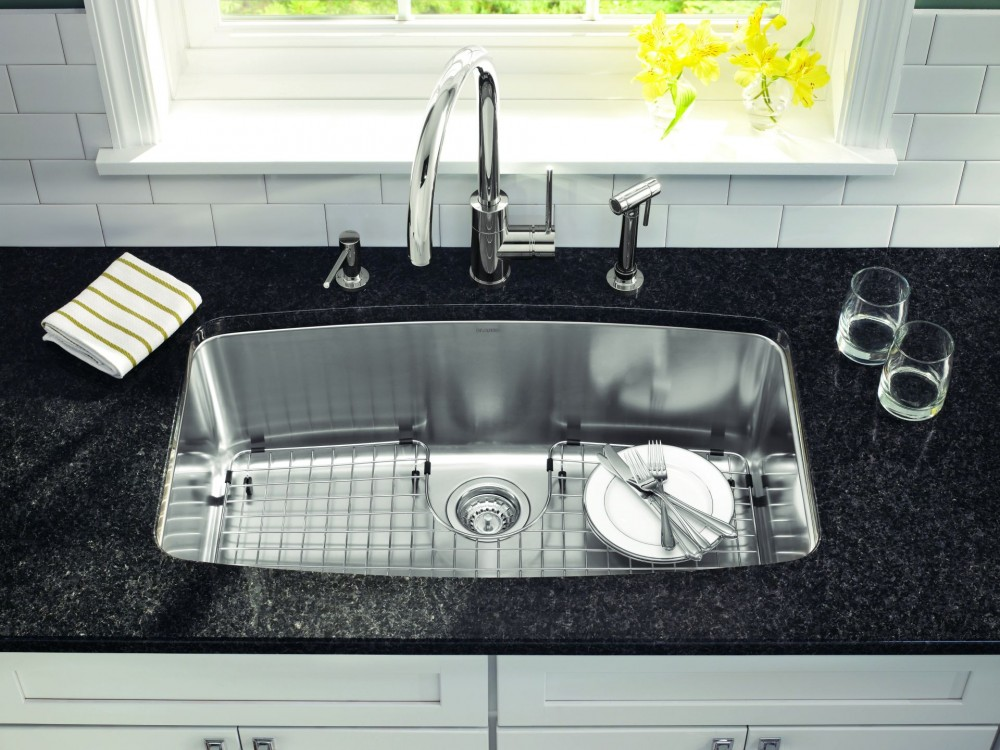 beautiful Single Or Double Bowl Kitchen Sink #5: Single Basin Kitchen Sink Vs Double Cliff