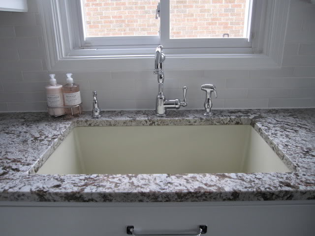how to clean a white granite composite sink