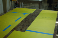 Template Layout on Slab