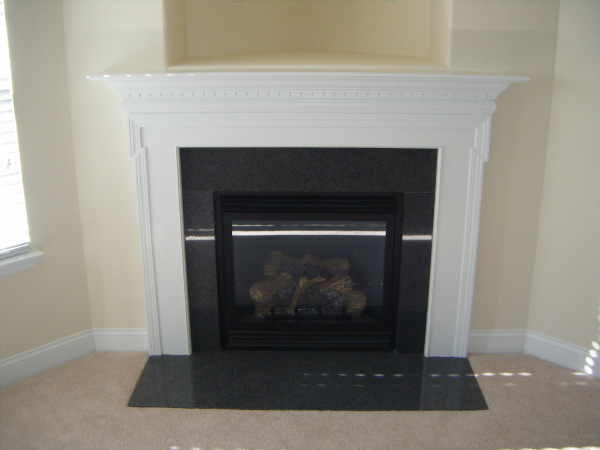 Fireplace Mantel with Granite