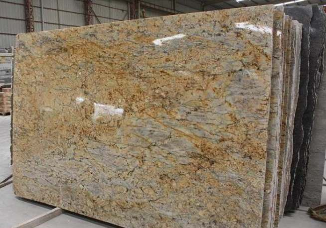 Golden Bordeaux Granite slab