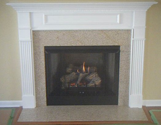 Fireplace Mantel and Granite