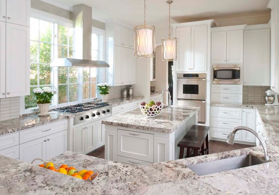 White Kitchen Cabinets With Granite Countertops granite colors for white cabinets