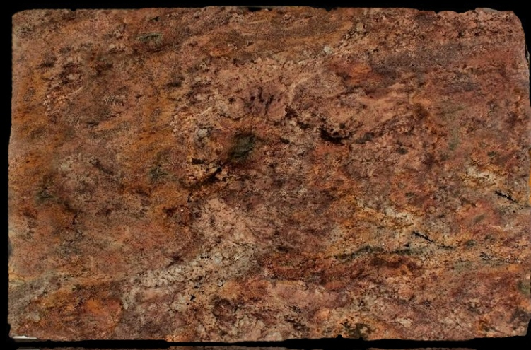 red montana granite slab