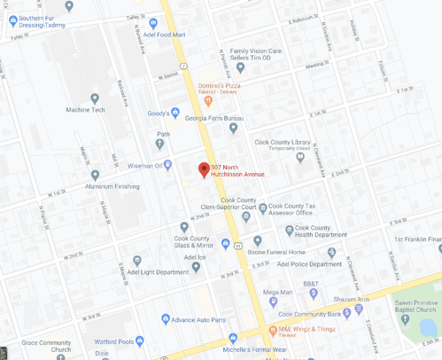 Map Image of our Adel location.