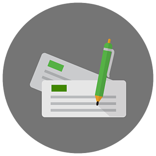 Writing a letter icon