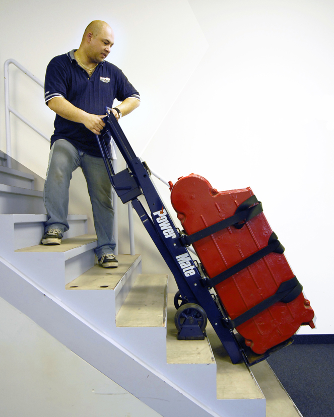 Powermate electric stairclimbing hand trucks blog carl for Motorized hand truck dolly