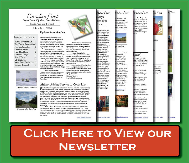 Pacific Lots Newsletter October 2014