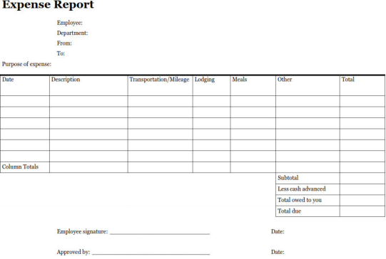 Travel and Expense Report Evolution – Expense Report