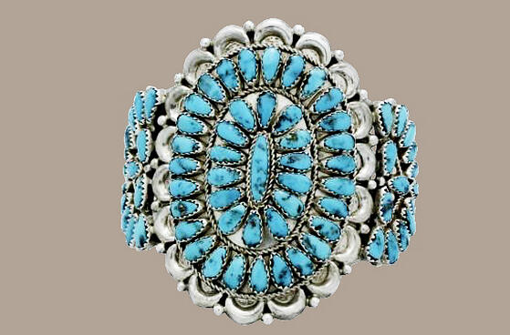 Justin Wilson, Navajo Turquoise Cluster Bracelet