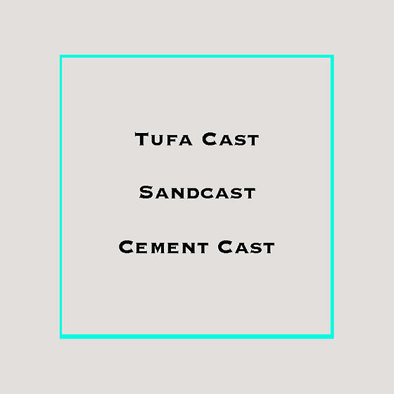Tufa cast, sandcast & cement cast jewelry making
