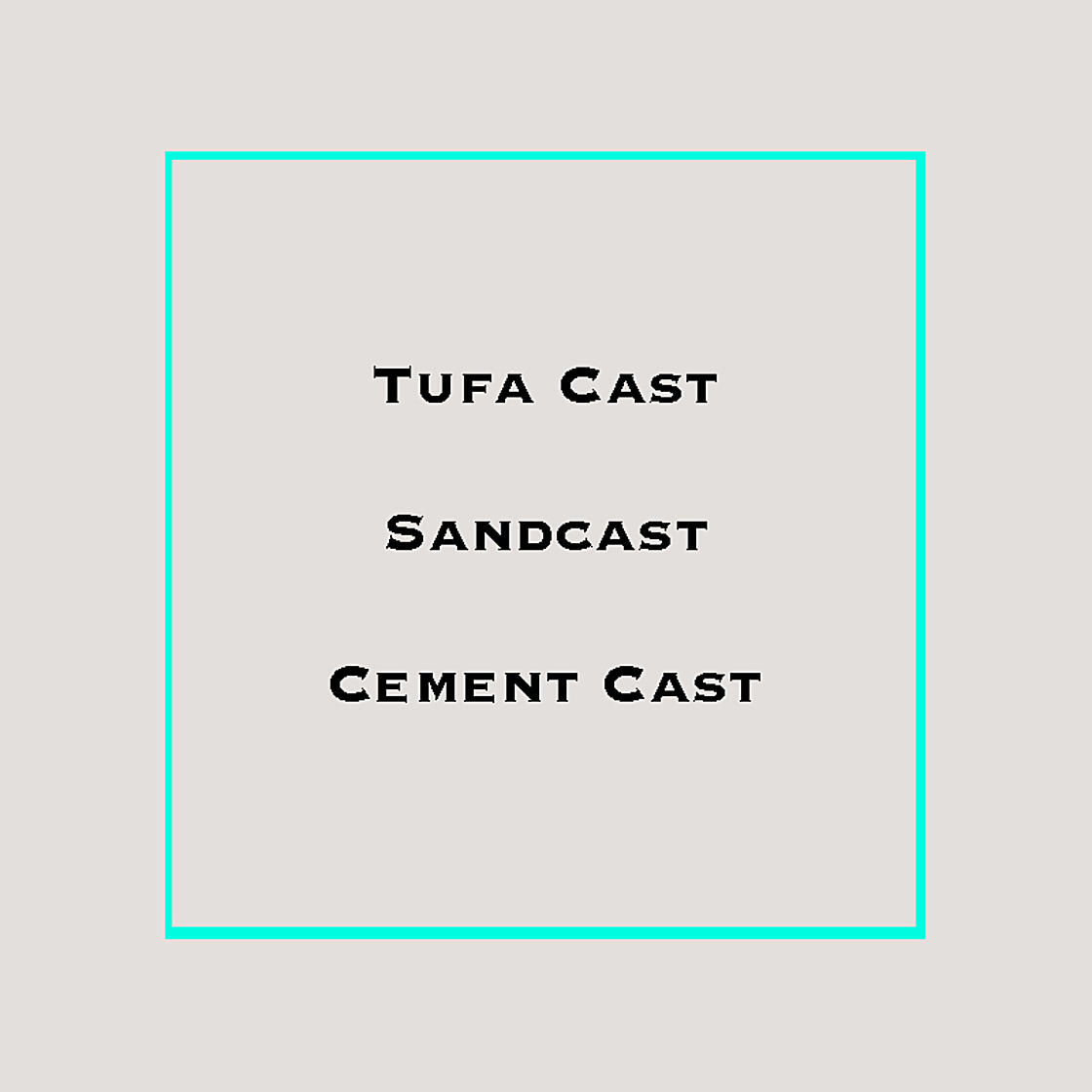 What is the difference between Sandcast & Tufa Cast?