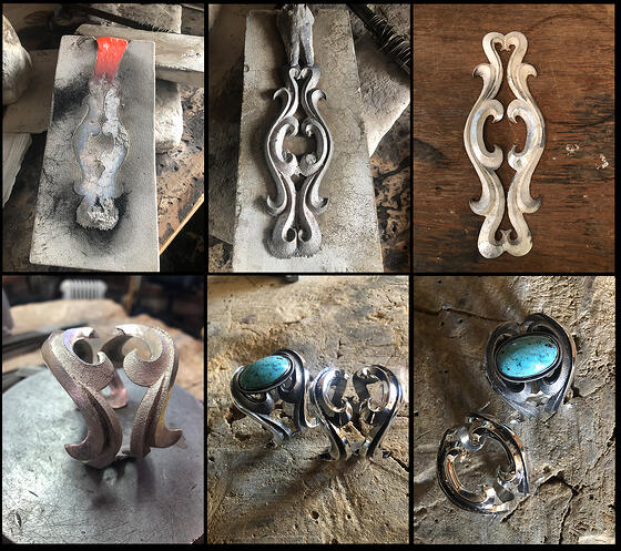 Taking a poured tufa cast design and turning it into a bracelet
