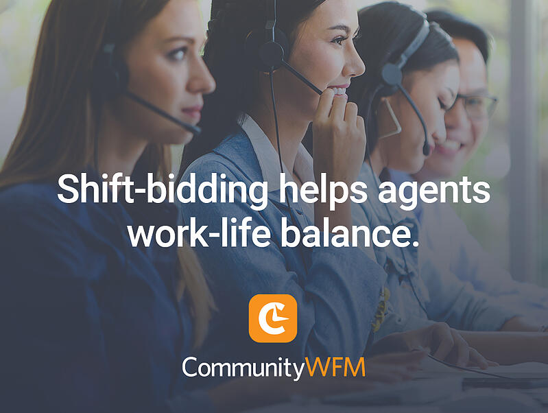 Shift-bidding helps agents balance their work-life needs