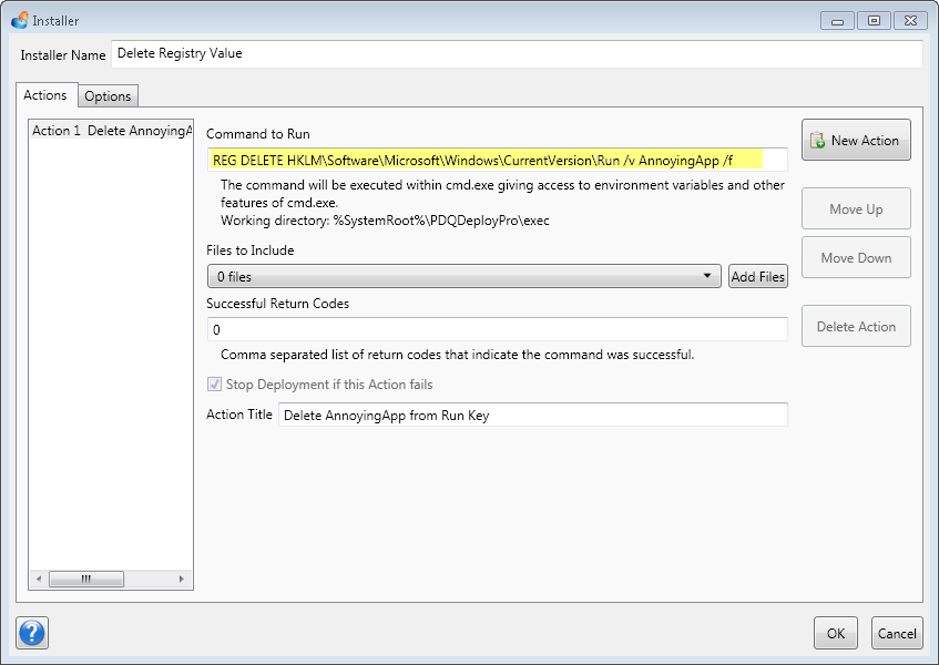 remote registry modification is easy with PDQ Deploy Pro