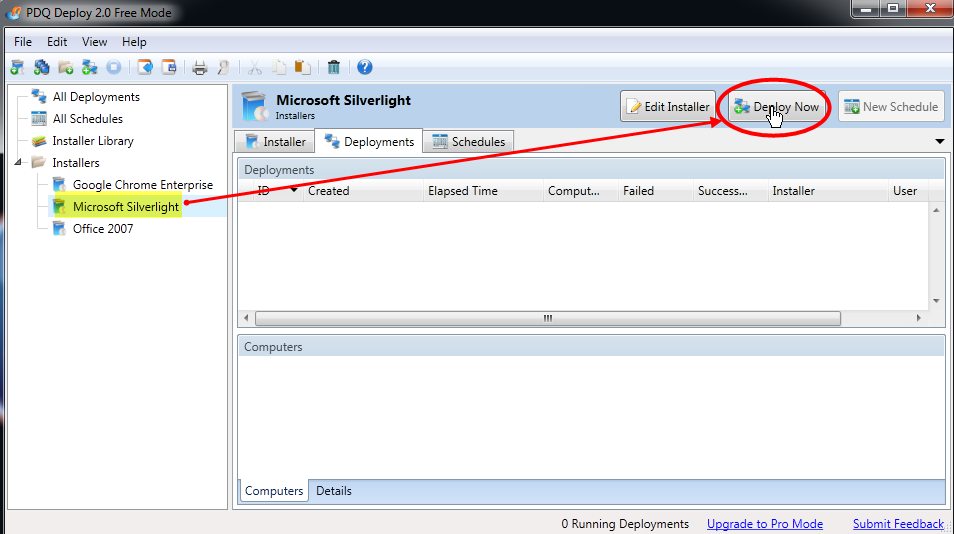Using the new installer library in pdq deploy 2 0 1 you can download